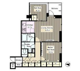 パークアクシス西麻布ステージ7階Fの間取り画像