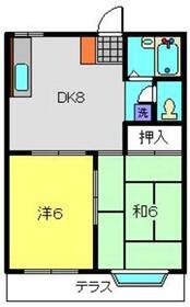 メゾンたちばなPartⅡ1階Fの間取り画像