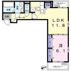 鶴間駅 徒歩20分1階Fの間取り画像
