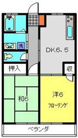 グローリハイツ3階Fの間取り画像