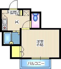 ガーデンヒルズ1階Fの間取り画像