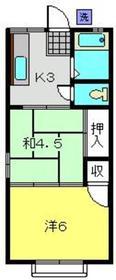 保土ヶ谷駅 バス10分「花見台西」徒歩2分2階Fの間取り画像