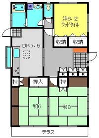 上菅田町貸家1階Fの間取り画像