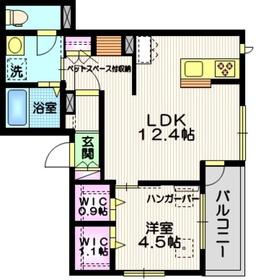 ポルトボヌールコトホギ2階Fの間取り画像