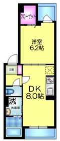ドミールS3階Fの間取り画像