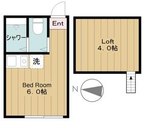 ユナイト菅キャロライン2階Fの間取り画像