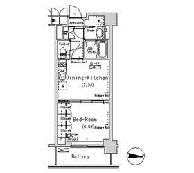 パークアクシス辰巳ステージ6階Fの間取り画像