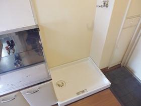 洗濯機置き場はお部屋内にあります。