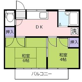 藤荘2階Fの間取り画像