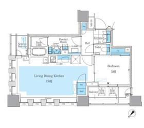 パークアクシス月島マチュアスタイル6階Fの間取り画像