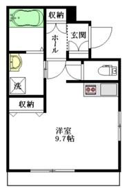 サニーハウス ケン2階Fの間取り画像
