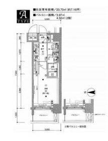メインステージ森下5階Fの間取り画像