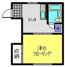 ストークハイツOGIMURA1階Fの間取り画像