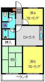 エクセルマンション槙2階Fの間取り画像