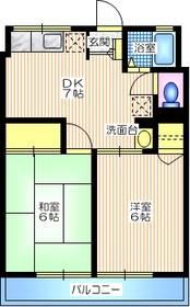 シティハイム藤2階Fの間取り画像