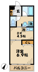 デルニエ2階Fの間取り画像