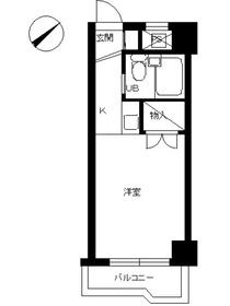 スカイコート川崎72階Fの間取り画像