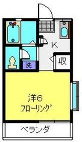 ベルグラン白楽A棟2階Fの間取り画像