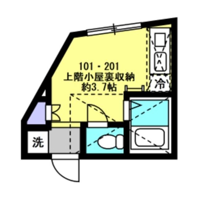 洋室4帖 上階小屋裏収納約3.7帖