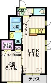 (仮称)田園調布5丁目メゾン1階Fの間取り画像