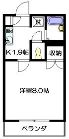 クレール2階Fの間取り画像