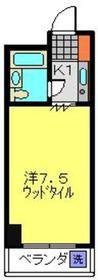 和田町駅 徒歩10分3階Fの間取り画像