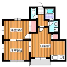 レグルス1階Fの間取り画像