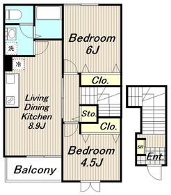 コンコード1番館2階Fの間取り画像