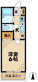 ジュネス11階Fの間取り画像