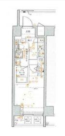 ベルシード横濱WESTⅡ7階Fの間取り画像