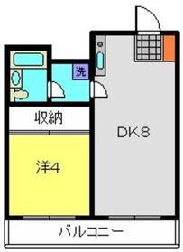 鹿島田駅 徒歩17分5階Fの間取り画像