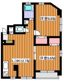 地下鉄赤塚駅 徒歩2分3階Fの間取り画像