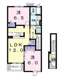 ノーヴァエス2階Fの間取り画像