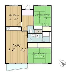 ライオンズマンション相模大野11階Fの間取り画像