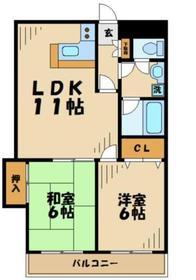 フラワーマンションコヤタ22階Fの間取り画像