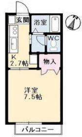 サンライズ211階Fの間取り画像