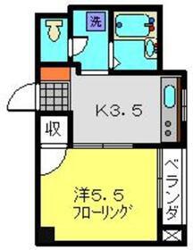 グレースピュア2階Fの間取り画像