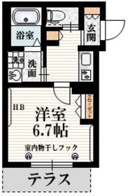 信濃町駅 徒歩7分1階Fの間取り画像