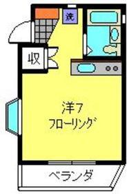 カーサ・ソラーレ1階Fの間取り画像