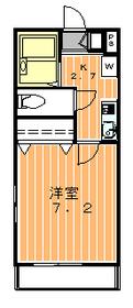 メゾンかすみ2階Fの間取り画像