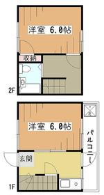 寿ハイツ2階Fの間取り画像