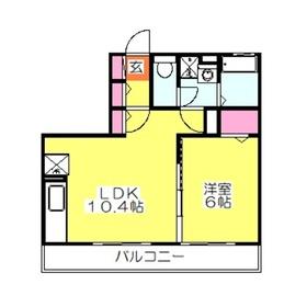 パルテール1階Fの間取り画像