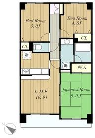 ライオンズマンション相武台3丁目4階Fの間取り画像