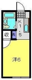 メゾンオガワ2階Fの間取り画像