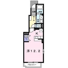 ディスポワールⅢ1階Fの間取り画像