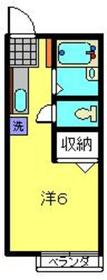 メゾンドール小川1階Fの間取り画像