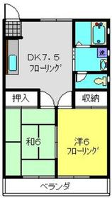 アミティーNO.11階Fの間取り画像
