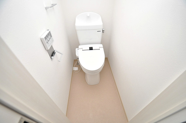 Fmaison verde(エフメゾン ベルデ) 清潔感のある爽やかなトイレ。誰もがリラックスできる空間です。