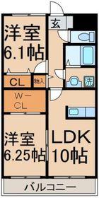 シャトルコート3階Fの間取り画像