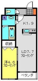 アークコートソーマ峰沢B2階Fの間取り画像